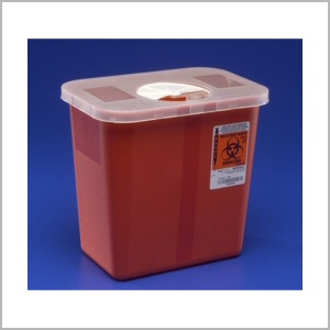 1 Quart Sharps Container for disposal of syringes and needle tips