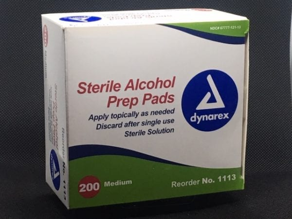 Wrapped Alcohol Prep Pads